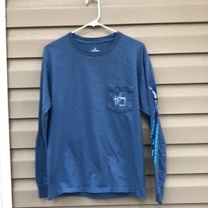 Guy Harvey men's blue long sleeve tee shirt